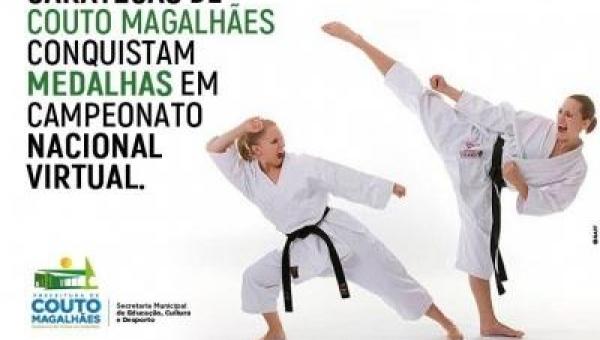 Caratecas de Couto Magalhães conquistam medalhas em campeonato nacional virtual