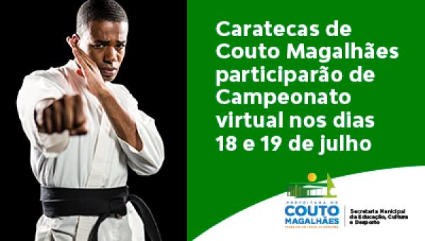 Caratecas de Couto Magalhães participarão de Campeonato Nacional de Karatê virtual nos dias 18 e 19 de julho