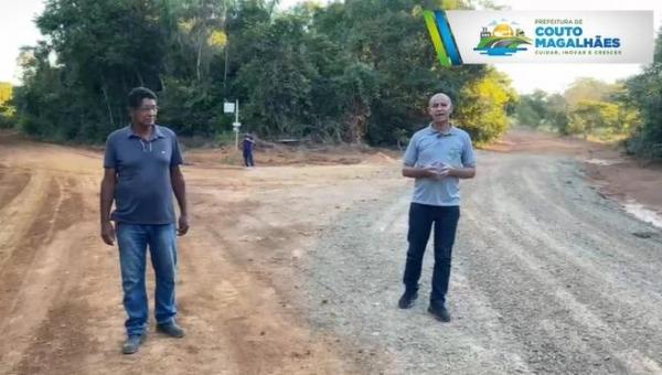 Estrada que liga Peixelândia à região do P.A Campo da Missa é revitalizada em Couto Magalhães