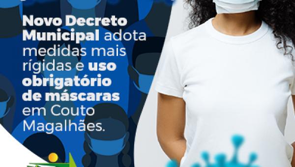 Prefeitura de Couto Magalhães adota medidas mais rígidas para combate ao novo coronavírus