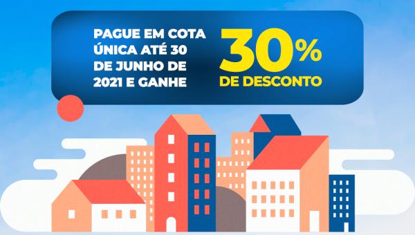 Prefeitura de Couto Magalhães oferece desconto de até 30% em pagamento à vista de IPTU até 30 de Maio